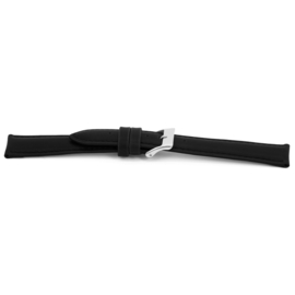 Horlogeband Universeel H010-XL Leder Zwart 22mm