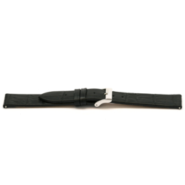 Horlogeband Universeel G106 Leder Zwart 20mm-K189