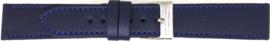 Horlogeband Universeel 804.05 Leder Blauw 20mm