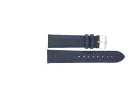 Horlogeband Universeel P354R.05 Leder Blauw 20mm