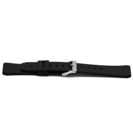 Horlogeband Universeel XH14 Kunststof/Plastic Zwart 22mm