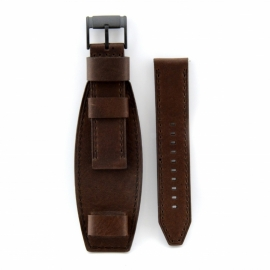 Onderliggende horlogeband donker bruin 22mm JR-1365.22
