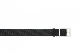 Perlon band 22mm zwart NR.18