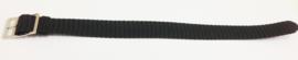 Perlon band 16mm zwart NR.8