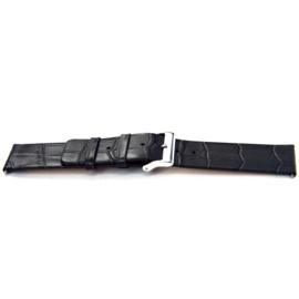 Horlogeband Universeel K810 Leder Grijs 28mm-K329