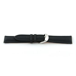 Horlogeband Universeel I170 Leder Zwart 24mm-K289
