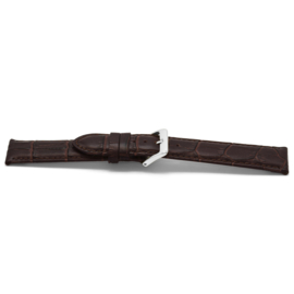 Horlogeband Universeel C348 Leder Bruin 12mm-K26