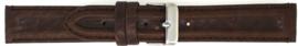 Horlogeband leder Universeel 891.02 Donker Bruin 20mm
