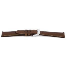 Horlogeband Universeel F413 Leder Bruin 18mm-K172
