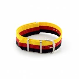 Nato horlogeband geel / rood / zwart 22mm md1020.38