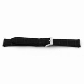 Horlogeband Universeel F015-XL Leder Zwart 18mm
