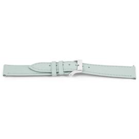 Horlogeband Universeel C614 Leder Lichtblauw 12mm-K36