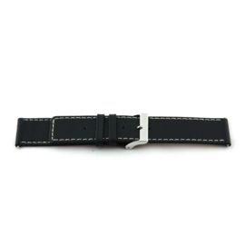 Horlogeband Universeel I110 Leder Zwart 24mm-K276