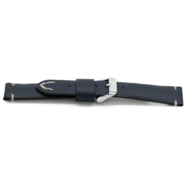 Horlogeband Universeel G612 Leder Blauw 20mm-K227
