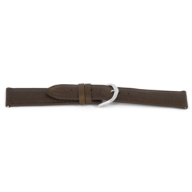 Horlogeband Universeel C444 Leder Bruin 12mm-K30