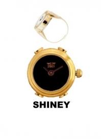 Ring horloge zwarte wijzerplaat Davis 4179