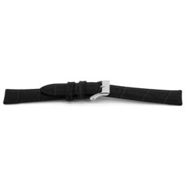 Horlogeband Universeel D156 Leder Zwart 14mm-K56