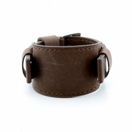 Onderliggende horlogeband donker bruin 20mm JR-1395.21