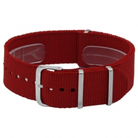 Nato horlogeband  rood 20mm 409.06.20
