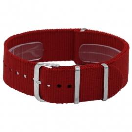 Nato horlogeband  rood 20mm  / NR. 1