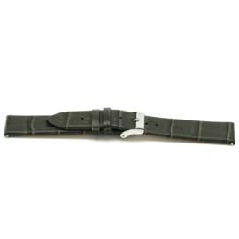 Horlogeband Universeel F815 Leder Grijs 18mm LK80