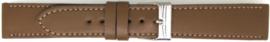 Horlogeband Universeel 804.17 Leder Bruin 20mm