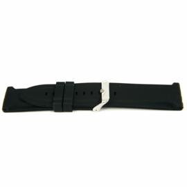 Horlogeband Universeel XI15 Silicoon Zwart 24mm-KR18