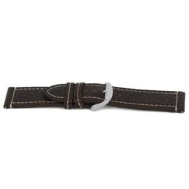 Horlogeband Universeel J319 Leder Bruin 26mm-K315