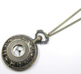 "Ketting horloge brons ""open sterrenbeeld"""