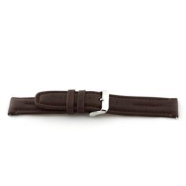 Horlogeband Universeel G390 Leder Bruin 20mm-K215