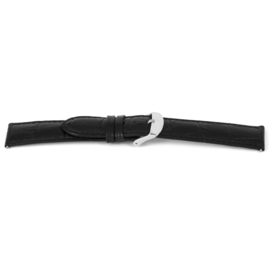Horlogeband Universeel G140 Leder Zwart 20mm-K200