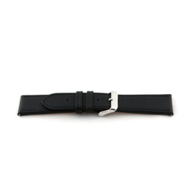 Horlogeband Universeel L135 Leder Zwart 30mm