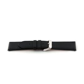 Horlogeband Universeel I135 Leder Zwart 24mm-K282
