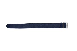 Perlon band 18mm blauw  NR20