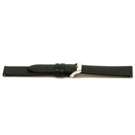 Horlogeband Universeel G107 Leder Zwart 20mm-K190