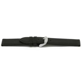 Horlogeband Universeel C129 Leder Zwart 12mm-K15