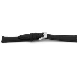 Horlogeband Universeel D146 Leder Zwart 14mm-LK28