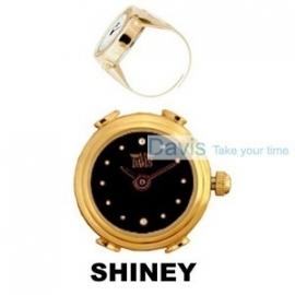 Ring horloge zwarte wijzerplaat Davis 4182