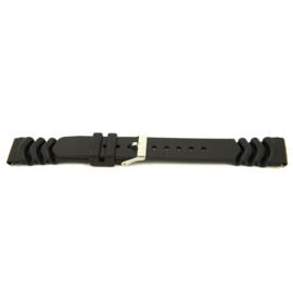 Horlogeband Universeel XG11 Kunststof/Plastic Zwart 20mm-KR09