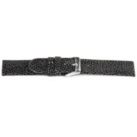 Horlogeband Universeel F136 Leder Antracietgrijs 18mm-K140