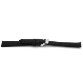 Horlogeband Universeel D015 XL Leder Zwart 14mm-KXL07