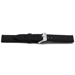 Horlogeband Universeel XH17 Rubber Zwart 22mm-KR14