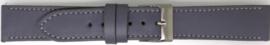 Horlogeband Universeel 804.07 Leder Grijs 20mm