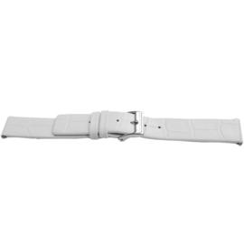 Horlogeband Universeel H520 Leder Wit 22mm LK42