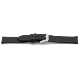 Horlogeband Universeel I123 Leder Zwart 24mm-K280