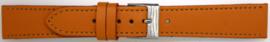 Horlogeband Universeel 804.12 Leder Oranje 20mm