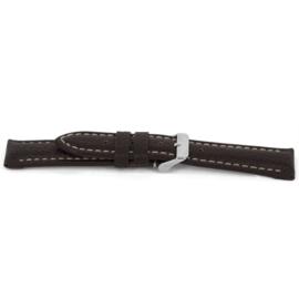 Horlogeband Universeel I038-XL Leder Bruin 24mm-KXL46