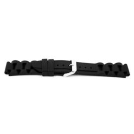 Horlogeband Universeel XH12 Silicoon Zwart 22mm-KR11