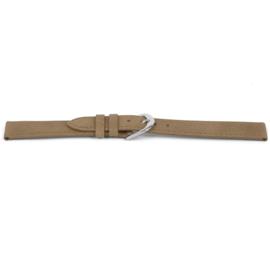 Horlogeband Universeel D452 Leder Beige 14mm-K77
