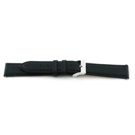 Horlogeband Universeel B131 Leder Zwart 11mm-K8